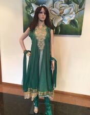 "42"" L XL Salwar Kameez Bollywood Indian Fancy Dress EID Diwali Green Outfit S72"