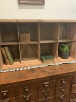 Vintage Primitive 8 Section WOOD BOX CRATE Shelf Farmhouse Rustic Barn Display
