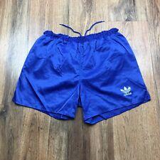 Vintage Adidas Shiny Nylon Shorts Glanz Ibiza Gym Running Size Medium D6 (S529)