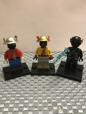 DC The Flash , Reverse Flash, And Black Flash Lego Minifigure, New