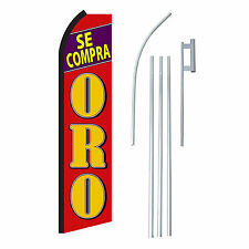 SE COMPRA ORO 15' COMPLETE SWOOPER FLAG STARTER KIT Bow Feather