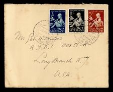 DR WHO 1958 NETHERLANDS AMSTERDAM TO USA C242632