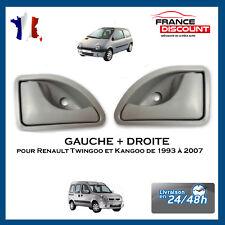 2 POIGNÉE DE PORTE INTERIEURE AVANT GAUCHE + DROITE RENAULT TWINGO 93-07