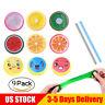 9x Creative Fruit Crystal Clay Putty Jelly Slime Plasticine Mud Kids Toy DIY E