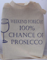 Prosecco cotton Tote Bag  - ideal birthday gift / fathers day gift