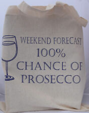 Prosecco cotton Tote Bag  - ideal birthday gift