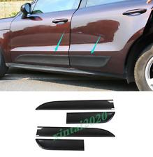4PCS Carbon Fiber Side Door Body Molding Streamer Trim For Porsche Macan 2014-19