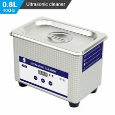 Ultrasonic Jewelry Watches Dental Cleaner Bath Digital Ultrasound Wave Cleaning