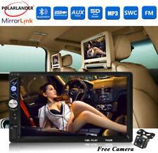 "Bluetooth USB/AUX/FM 2Din +Camera Touch Screen Car Radio HD 7"" Stereo MP5 Player"