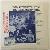 Led Zeppelin Live On Blueberry Hill 2LP Colored Vinyl 1971 First Press Germany