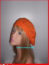 orange Women Lady girl thin Fashion Beret Beanie CROCHET French Artist CAP HAT