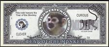 Million Note - Fantasy Money - Chinese Zodiac - Year of the Monkey