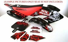 BLACK BODY PLASTIC & DECALS SET HONDA XR50 CRF50 SDG DIRT PIT BIKE P DE59+