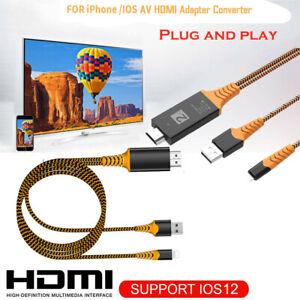 HDMI Mirroring Video Adapter Kabel Handy zu HDTV für iPhone iPad