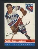 1954-55 Topps #22 Wally Hergesheimer EX/EX+ NY Rangers 108254