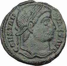 Constantine I The Great  328AD Ancient Roman Coin Military camp Bivouac i32412