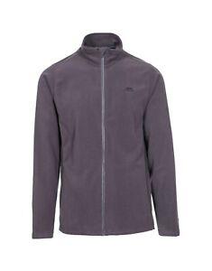 Trespass Tadwick Dark Grey Men's Long Sleeve Fleece Full Zip Top RRP £33.99
