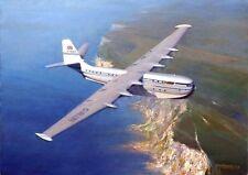 SARO Princess Aircraft Flying Boat BOAC Aviation Painting Art Print