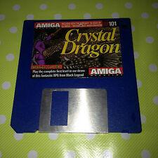 Rare Collectable Vintage Amiga Game CRYSTAL DRAGON DISK 101 Black Legend DEMO