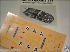 FERRARI 512 BB LE MANS 1980 UNIVERSITY 1/43 DECALS