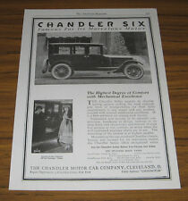1920 Vintage Ad Chandler Six Motor Cars Cleveland,Ohio