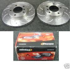 BMW E36 316 318is 320 323 325 325TD 328 DRILLED GROOVED BRAKE DISC MINTEX PADS