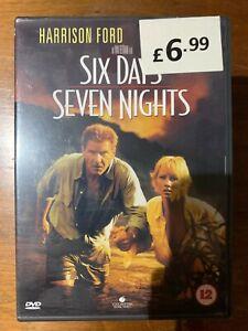 Six Days Seven Nights DVD 1997 Adventure Action Movie Romcom w/ Harrison Ford