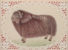Miniature Painting Artwork Artist Gallery Animal Himalayan tahr India UNO eBay