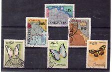 Venezuela cartografia y Mariposas series del año 1966 (DA-620)