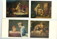 Chardin (1699-1779), französischer Maler ein Meister des Stilllebens. 6 Postkar.
