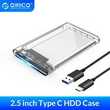 "ORICO 2.5"" USB C 3.1 Type-C Hard Drive Enclosure SATA Disk Case for MAC Laptop"