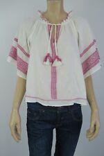 Sportsgirl Ladies Short Sleeve Detailed Top sizes 6 8 10 12 14 Colour Off White