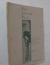 Parke Bernet Galleries Auction Catalogue Fine Japanese Prints Illus. Prices