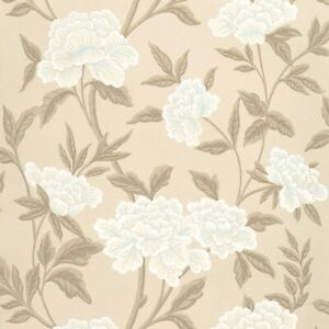 Schumacher Wallpaper 5004383 Whitney Floral Taupe Washable two double rolls