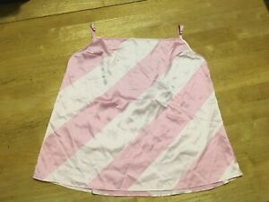 New VICTORIAS SECRET Pink Stripe Silky Cami Camisole TOP womens M