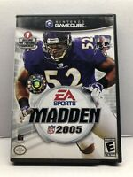 Madden NFL 2005 (Nintendo GameCube, 2004) Complete Tested Working - NM Disc