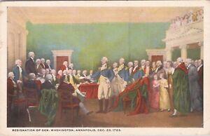 WB postcard, Reynolds - Resignation of General Washington at Annapolis