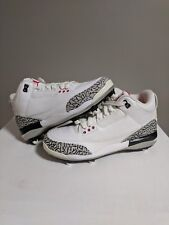 Air Jordan 3 D Football Cleats black White Cement 324822-161 Size 8 red bred