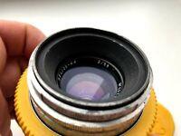 Soviet KMZ Silver Helios 44 58mm F/2.0 Prime Lens Cine Anamorphic M39 M42