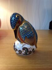 ROYAL CROWN DERBY 'Kedleston Kingfisher' Paperweight, 1st, Excellent Condition