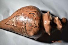 "Sale! Pre Columbian Mayan Shell, glyphs 7"" Prov"