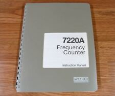 Fluke 7220a Frequency Counter Instruction Manual
