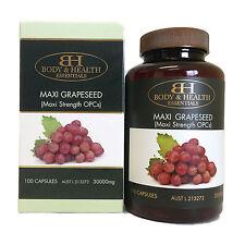 Body & Health Maxi Grapeseed 30000mg 100 Capsules