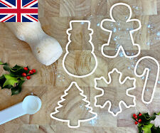 Christmas Cookie Cutters Biscuit Fondant Xmas Tree Gingerbreadman Snowflake