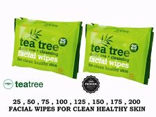 25 Wipes Facial skin care makeup remove daily use high quality wipes TEA TREE