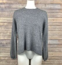Madewell Payton Pullover Sweater S Gray Crewneck Balloon Sleeves Wool Blend NEW