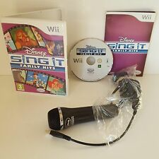 Disney sing it family hits (wii) avec official disney interactive microphone-très bon état