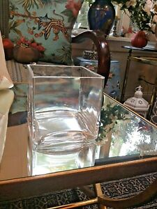 """Clear Square Glass Vase Cube 4"""" inch 4x4x4 Centerpiece Candle Holder Dining Bath"""