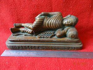 Antique Bronze Tibetan Sleeping tathagata Shakyamuni Amitabha Buddha Statue #02