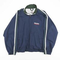Vintage NAUTICA Competition Navy Blue Big Logo Shell Jacket Men's Size XL